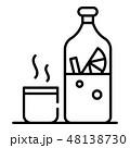 Mulled wine icon, outline style 48138730
