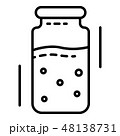 Injection ampoule icon, outline style 48138731