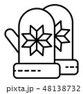 Winter gloves icon, outline style 48138732