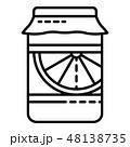 Orange jar jam icon, outline style 48138735