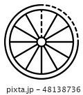 Slice of lemon icon, outline style 48138736