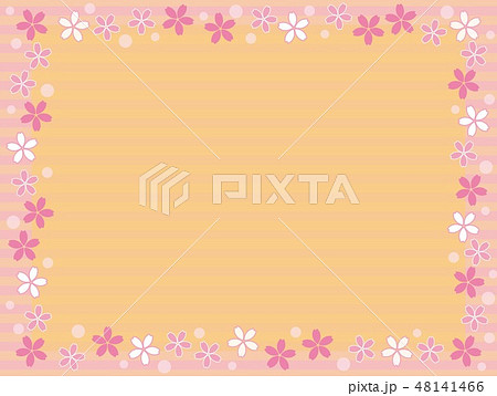 桜 フレーム ボーダー 48141466
