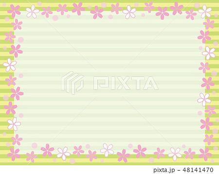 桜 フレーム ボーダー 48141470