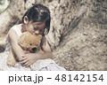 くま 女の子 少女の写真 48142154