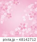 春 背景 和柄のイラスト 48142712