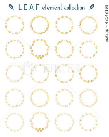 木の葉のリング素材集 48143198