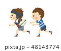 ラグビーをする男性 48143774