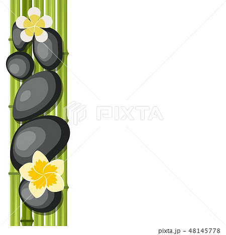 Bamboo and stones - spa background 48145778