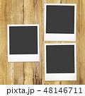 フレーム 木目 板のイラスト 48146711