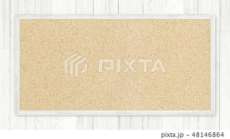 背景-壁-板-木目-白-コルクボード-フレーム 48146864