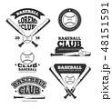 ロゴ スポーツ ベースボールのイラスト 48151591