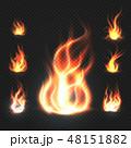 火 炎 たき火のイラスト 48151882