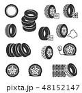 タイヤ ホイール 車輪のイラスト 48152147