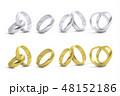 金色 黄金 シルバーのイラスト 48152186