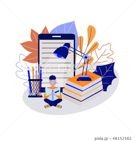Vector online education man student 48152562