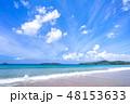 砂浜 ビーチ 海の写真 48153633