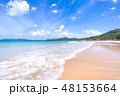砂浜 ビーチ 空の写真 48153664