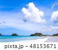 砂浜 ビーチ 空の写真 48153671