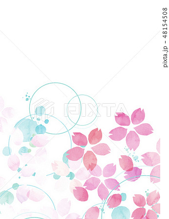 桜 水彩風 テクスチャー 48154508