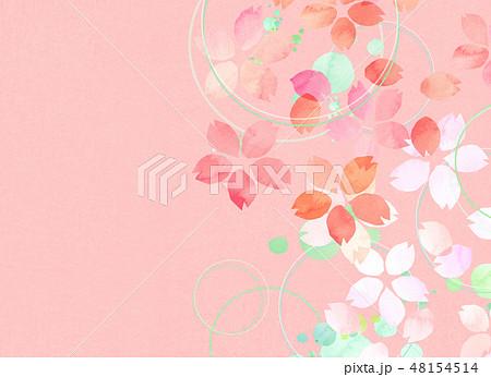 桜 水彩風 テクスチャー 48154514
