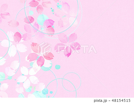 桜 水彩風 テクスチャー 48154515