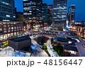 東京駅 駅前 夜景の写真 48156447