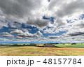 美瑛 北海道 畑の写真 48157784