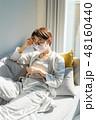 女性 マスク 頭痛の写真 48160440