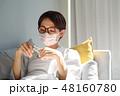 女性 マスク 病気の写真 48160780