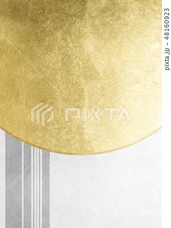 ライン 箔 金銀白 イメージ (背景素材) 48160923