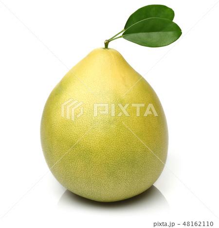 Fresh pomelo fruit isolated on white 48162110