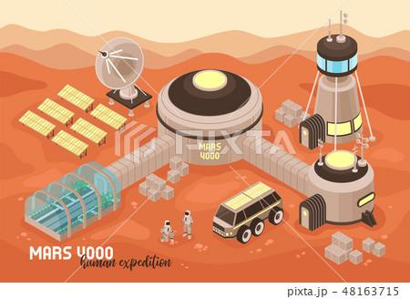 Extraterrestrial Base Landscape Background 48163715