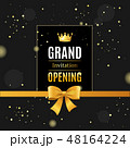 Grand Opening Card Poster Background on a Dark. Vector 48164224