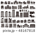 いろいろな建物のイラスト 48167818