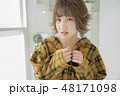 女性 女の子 ヘアスタイルの写真 48171098