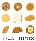 パン バリエーション 食べ物のイラスト 48176893