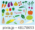 野菜 食材 セットのイラスト 48178653