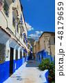 モロッコ シャウエン 青い街の写真 48179659