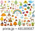 四季 季節の素材集2 48180687