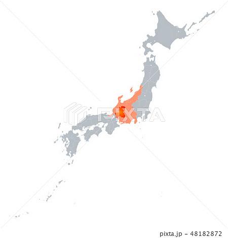 岐阜県地図と中部地方 48182872