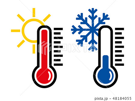 Thermometer icon or temperature symbol, vector and illustration 48184055