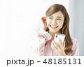 女性 アジア人 起きるの写真 48185131