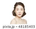女性 アジア人 ファンデーションの写真 48185403