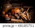 海賊 ドクロ 骸骨の写真 48185751