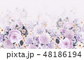 透明水彩 水彩画 花のイラスト 48186194