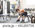 フィットネス トレーニング 女性の写真 48189756