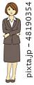 ビジネススーツ ベクター ビジネスウーマンのイラスト 48190354