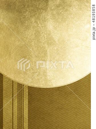 ライン 紗綾形 箔 金 イメージ (背景素材) 48193858
