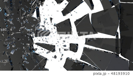 Broken glass . 3D render 48193910