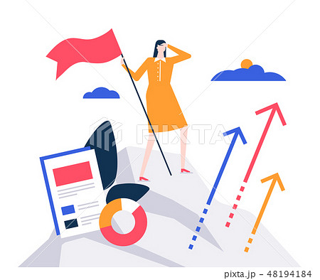 Business leadership - colorful flat design style illustration 48194184